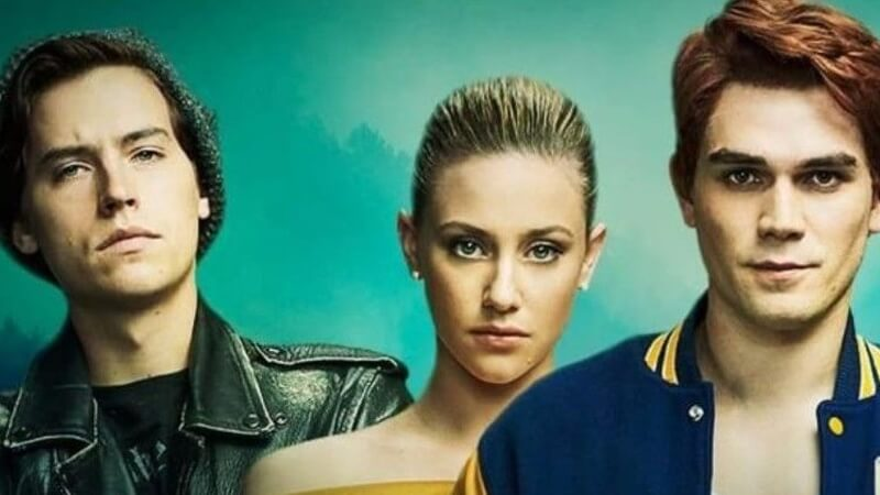 Betty, Archie, and Jughead on Riverdale