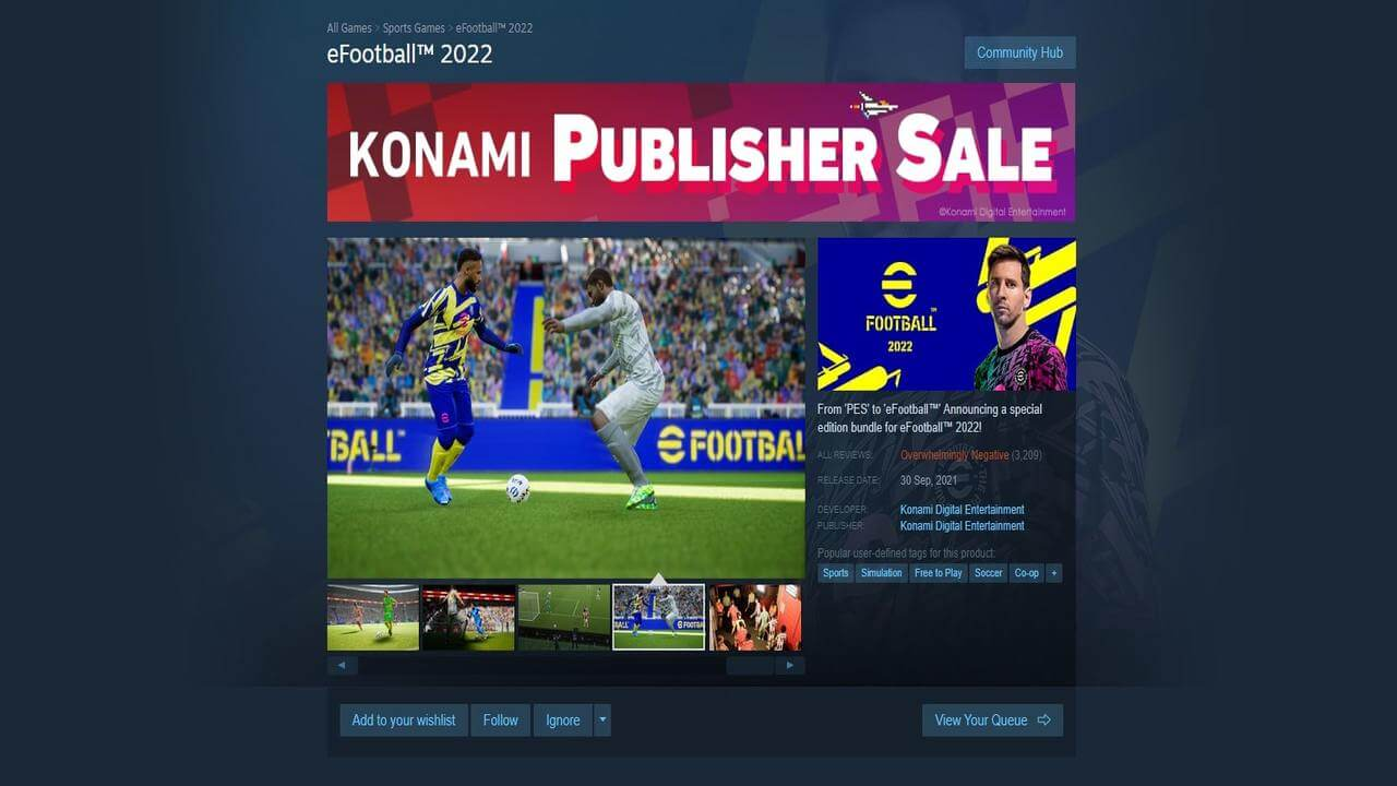 eFootball Steam Reviews Are Overwhelmingly Negative On Launch