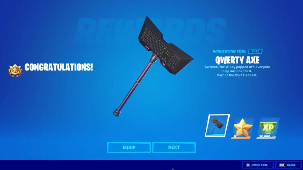 Fortnite: How to Get the Keyboard Pickaxe