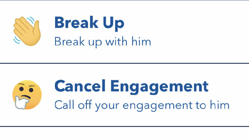 BitLife Call Off Engagement