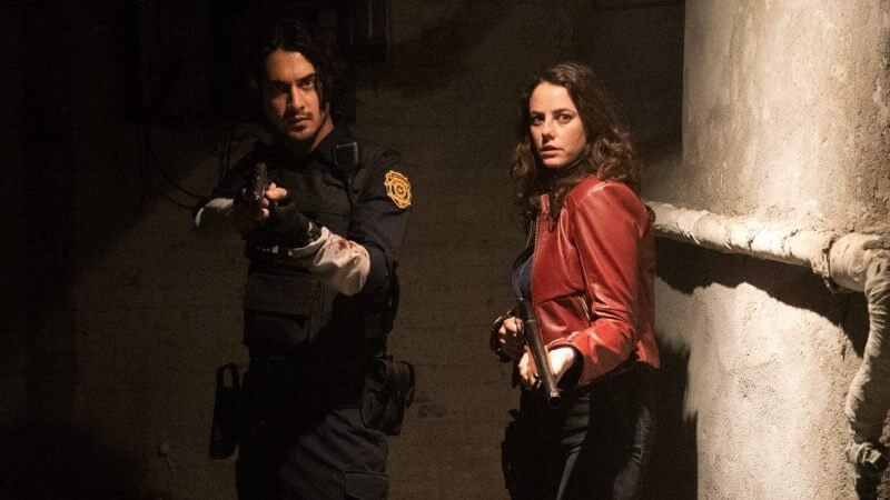 Claire and Leon from the Resident Evil movies