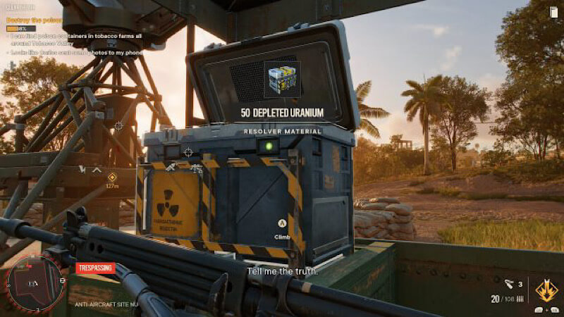 Far Cry 6: How to find depleted uranium