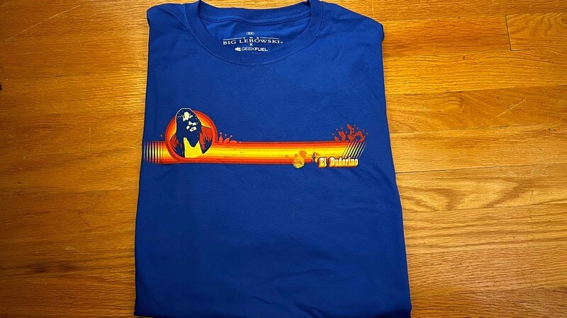 Photo of the Big Lebowski T-Shirt from Geek Fuel Strike Force Box