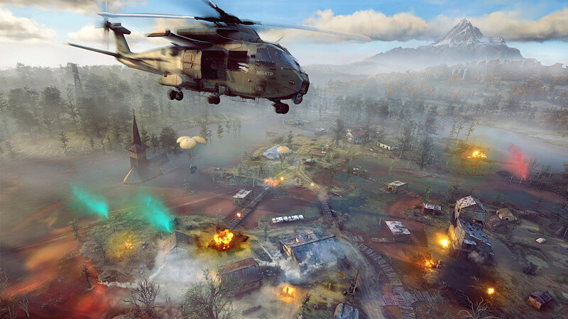 Ghost Recon Frontline helicopter