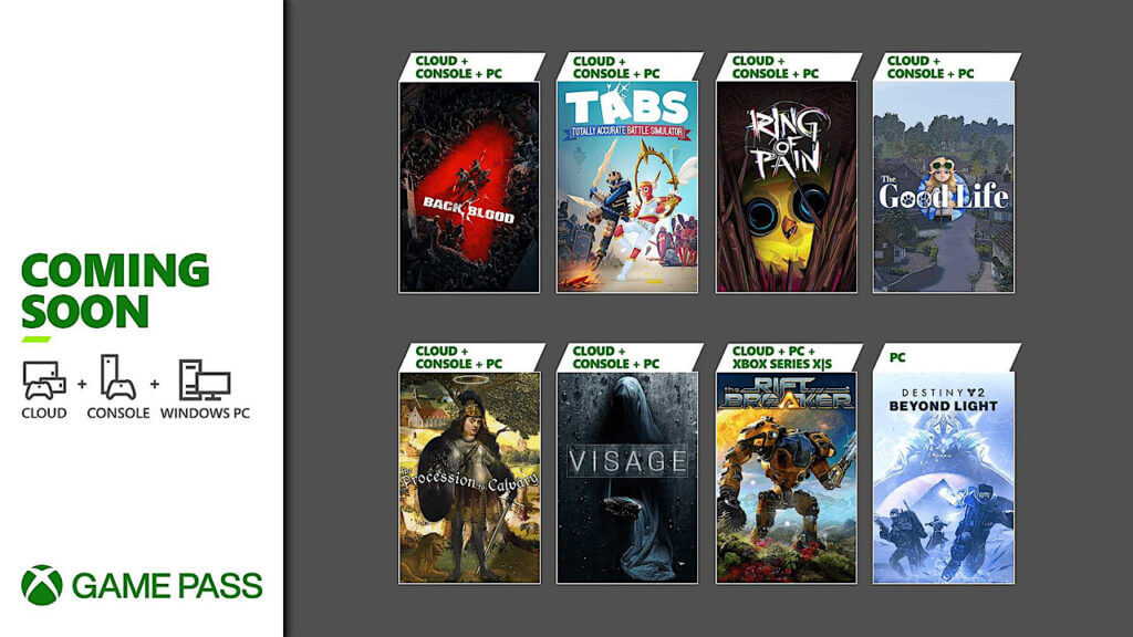 Xbox Game Pass October Update Adds Back 4 Blood and More