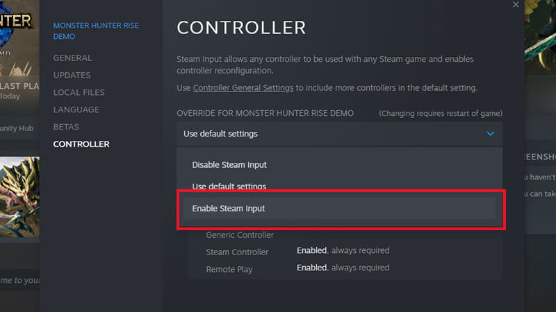 Monster Hunter Rise PC Demo: How To Enable Controller